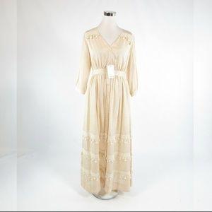 Light beige SEA NEW YORK maxi dress 4 NWT